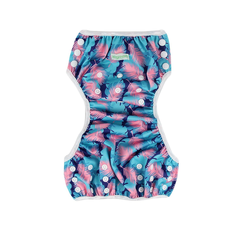 4ac2c9bf3c Wegreeco Baby & Toddler Snap One Size Reusable Baby Swim Diaper  (Diving,Ocean, larger image
