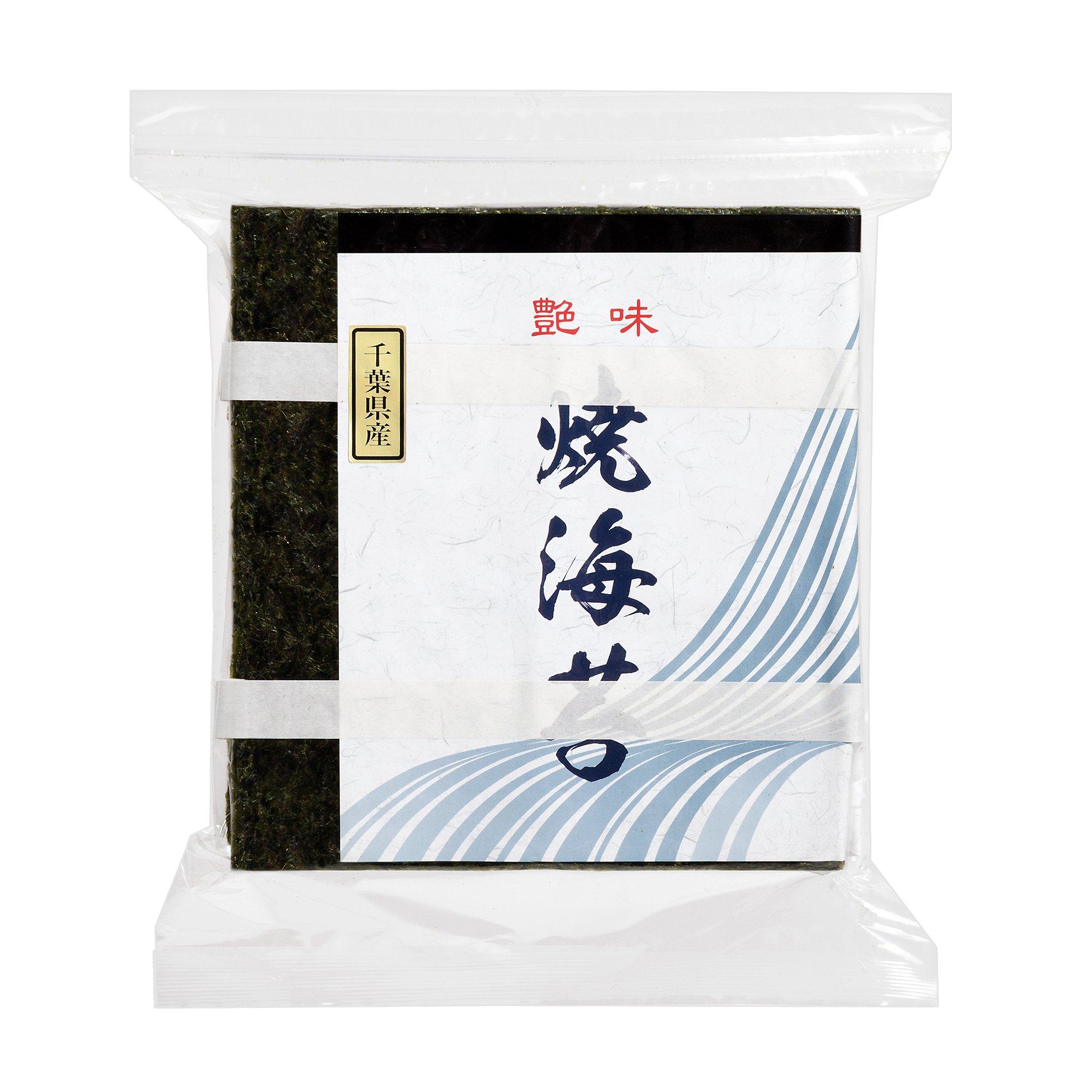 Japanese CHIBA loasted Seaweed laver 100 sheets NORI sushi onigiri