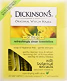 Dickinsons Original Witch Hazel Oil Controlling Towelettes - 20 Ea, 3 Pack