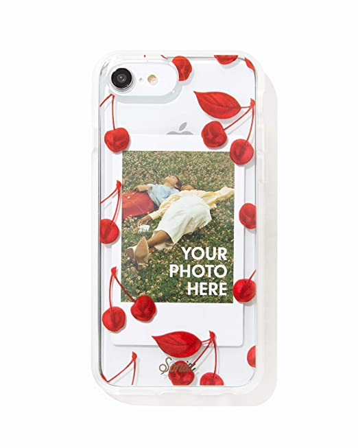 info for d5587 72801 Sonix Cherry Photo Frame Cell Phone Case [Military Drop Test Certified]  Protective Clear Polaroid Picture Case Series for Apple iPhone 6, iPhone 7,  ...