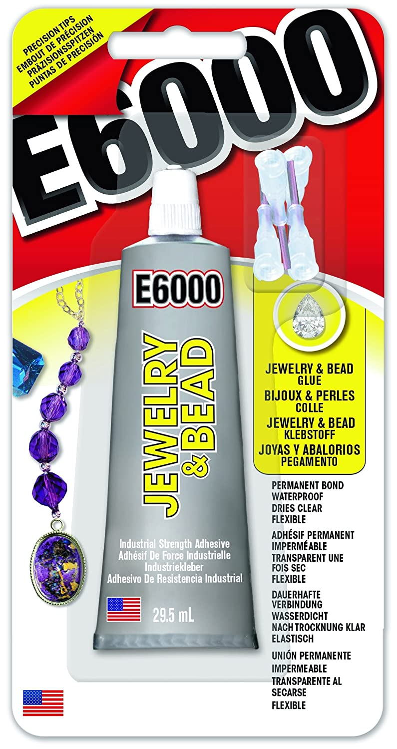 E6000 Jewelry and Bead 29.5ml 2 oz. Clear Waterproof Glue with Precision Tips EU10242001 Eclectic