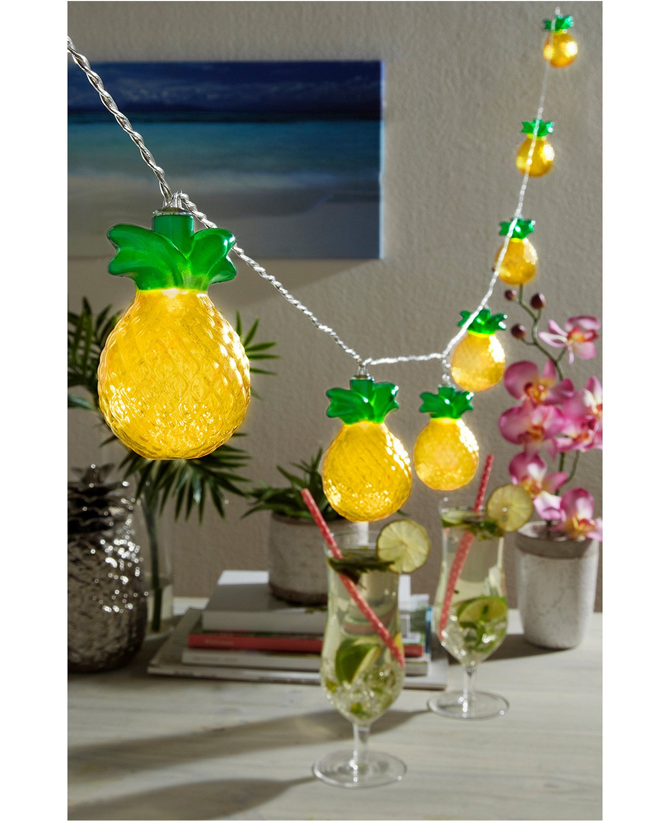 Studio Mercantile Novelty 10-ft Pineapple LED String Lights, Set of 2 by Studio Mercantile