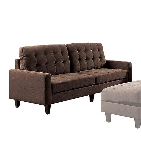 Amazon.com: Acme muebles 50250 Nate sofá, Chocolate: Kitchen ...