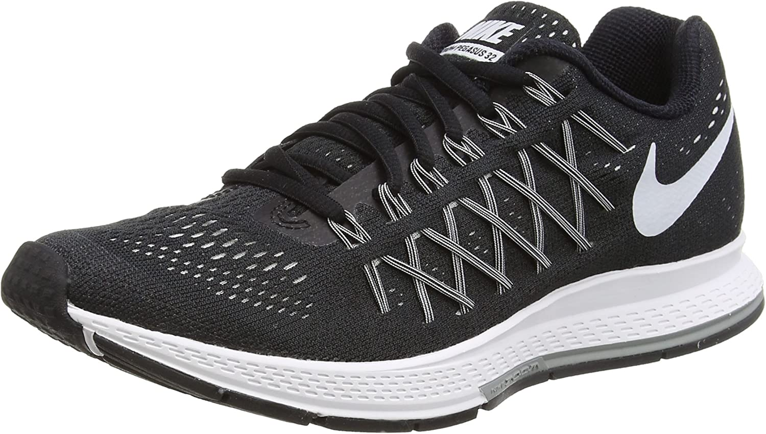 Nike Air Zoom Pegasus 32 - Zapatillas para mujer, Negro (Black / White-Pure Platinum), 38 EU: Amazon.es: Zapatos y complementos