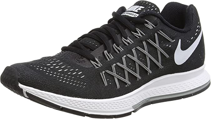 Abundantemente escaramuza Regularmente  Amazon.com | Nike Womens Air Zoom Pegasus 32 Black/White/Pure Platinum  Running Shoe | Road Running