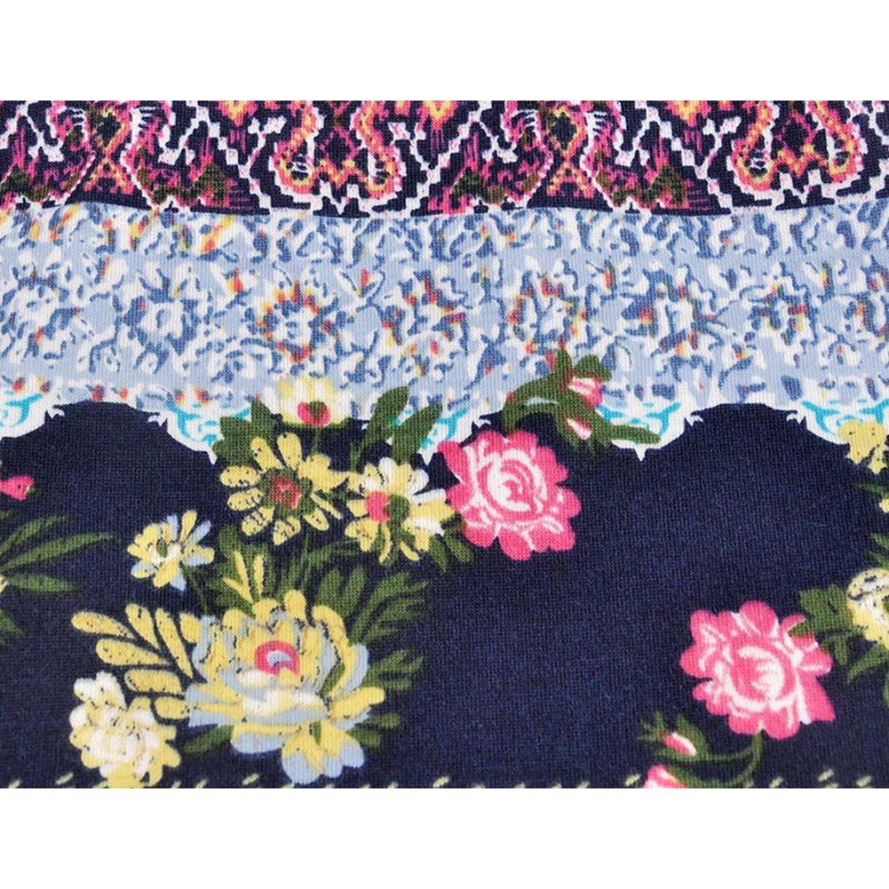 Lumanuby 1x Hippie Blume Jersey M/ütze Haube Baumwolle Elastisch Hipster Scarf Tube Freizeit f/ür Fr/ühling Herbst Mehrzweck M/ütze Maske Loop Schal Passend f/ür Kopfumfang 55-58cm