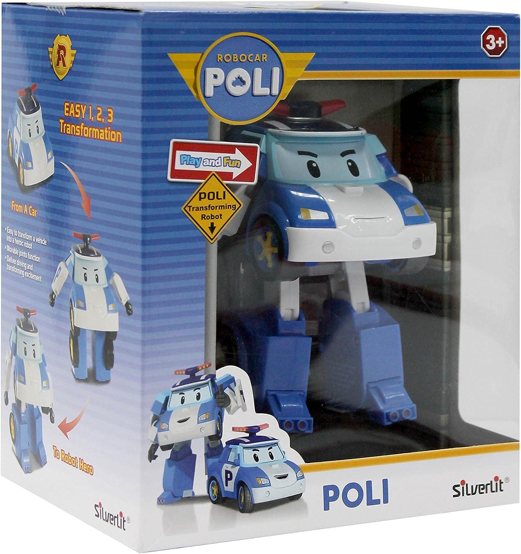 ROBOT TRASFORMABILE CON LUCI 13 cm AMBER ROBOCAR POLI