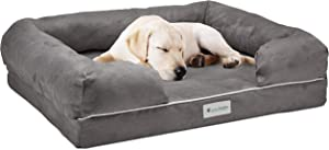 Green Breathe Eco Odor Free Dog Bed | Luxury Memory Foam with Natures Activated Charcoal Odor Remover | Miracle Dog Bed | Water and Chew Resistant