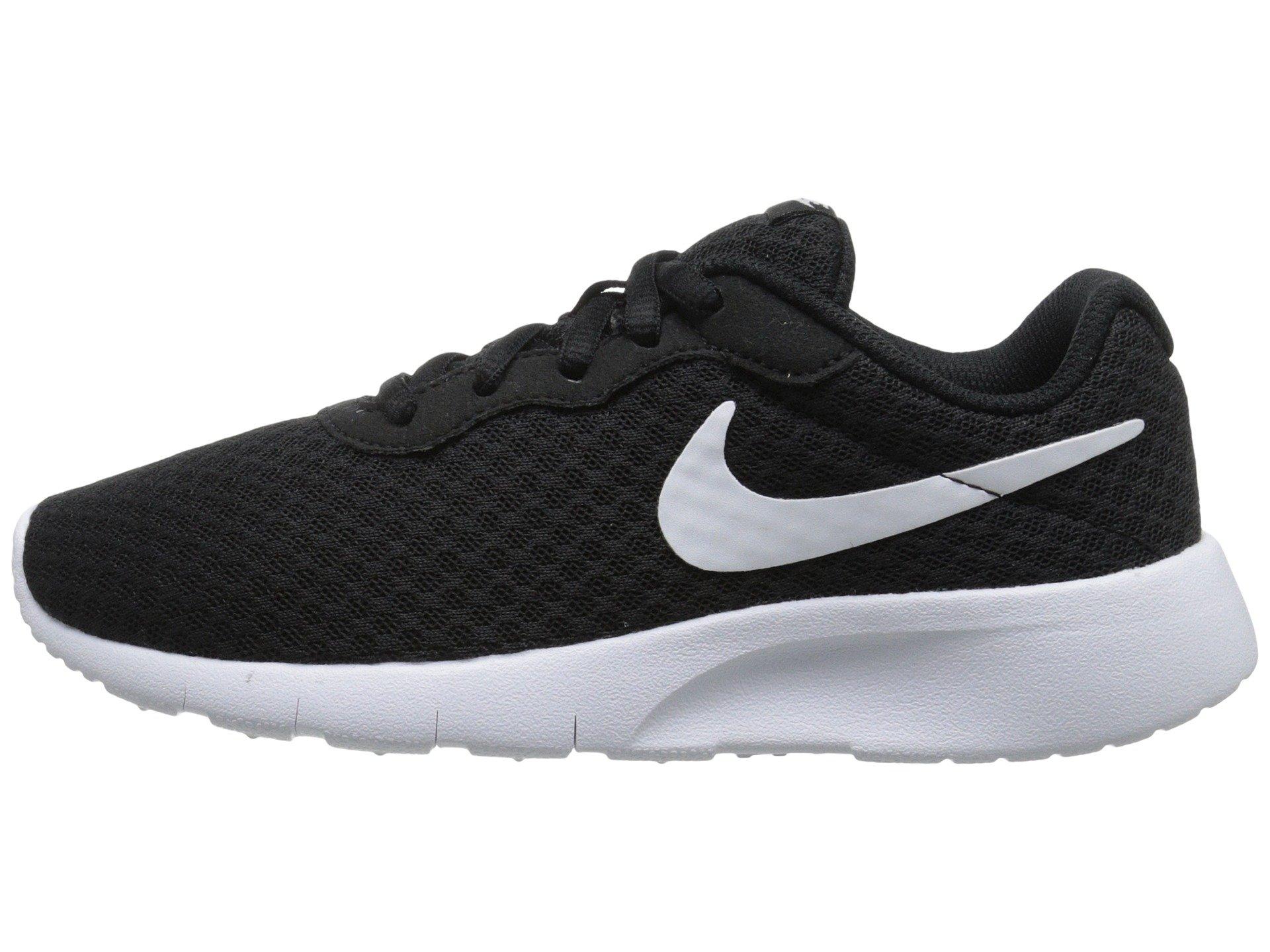 Nike Boy's Tanjun Running Sneaker Black/White-White 1.5 by Nike (Image #1)
