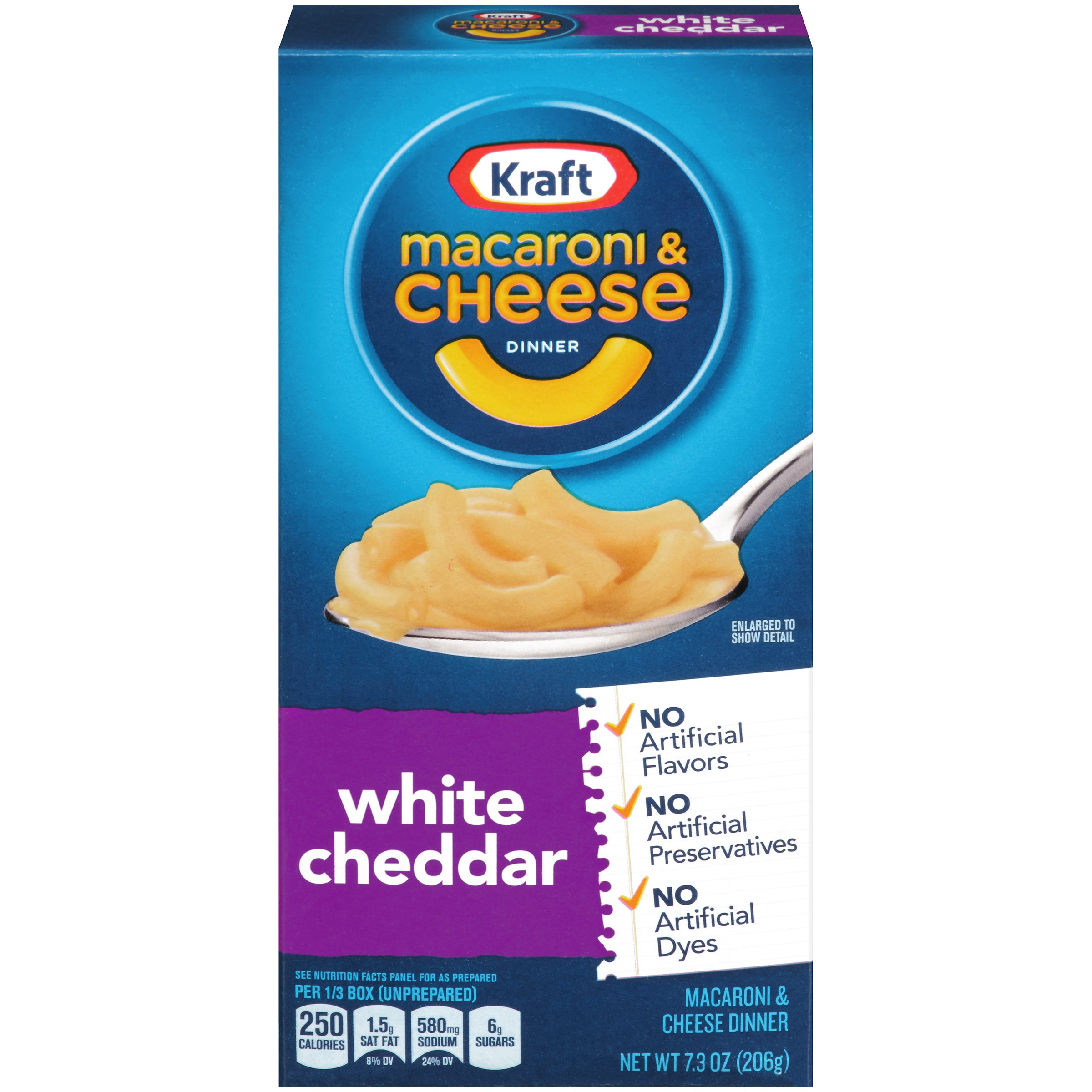 Kraft Macaroni & Cheese Dinner, White Cheddar, 7.3 Ounce