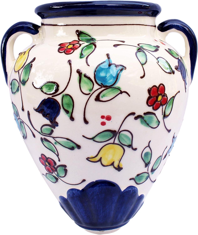 Florero de pared – español tinaja – primavera flores – pintado a mano en España: Amazon.es: Hogar
