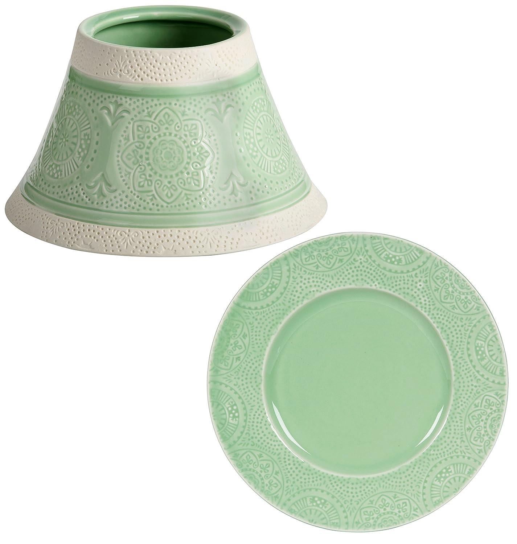 Kerze nicht im Lieferumfang enthalten Yankee Candle Lampenschirm-Dekorationsset elegantes Vintage-Kuba-Glas gro/ß