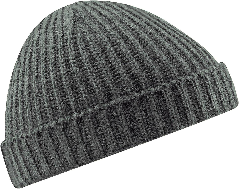 SMG Unisex Retro Ribbed Fisherman Trawler Winter Beanie Hat