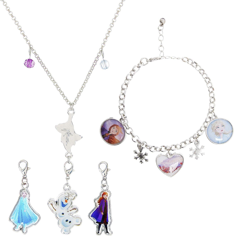 Disney Frozen Elsa /& Anna Girls Jewellery Wooden Cabinet Jewelry Necklane Kids