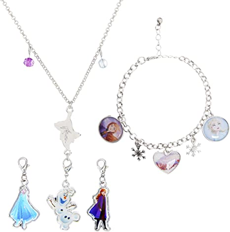 Disney Frozen Jewellery Sets Earrings and Necklace with Pedant Gift In BOX