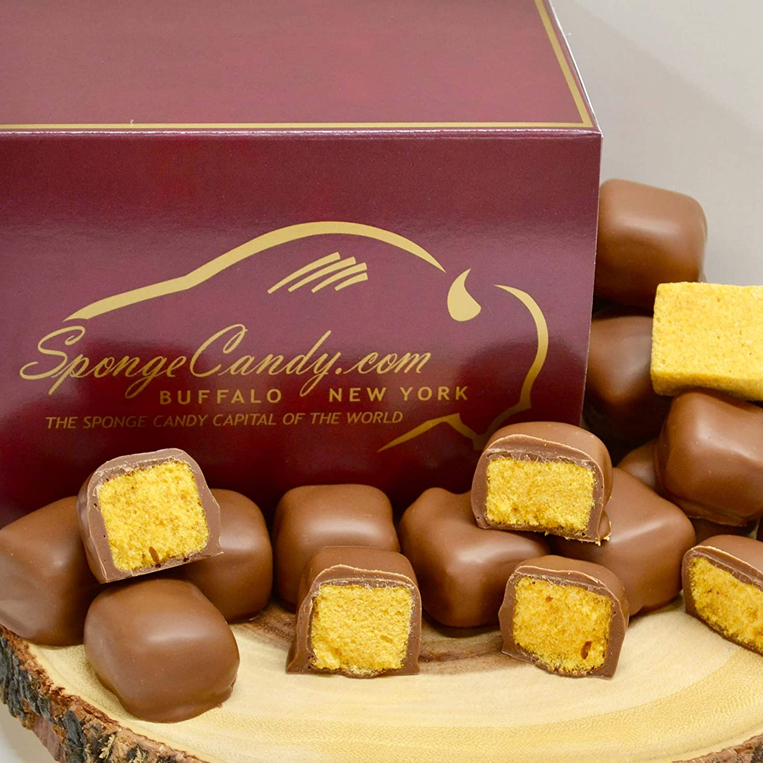 Chocolate Sponge Candy (4 flavors available) - from the Sponge Candy Capital of the World, Buffalo New York! (Milk Chocolate)