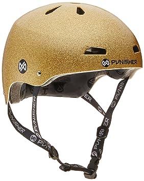 Punisher monopatín Pro Serie 13-Vent Dual - Certificado de Seguridad para Bicicleta BMX y monopatín Casco, Juventud/Teen 9 +, Dorado: Amazon.es: Deportes y ...