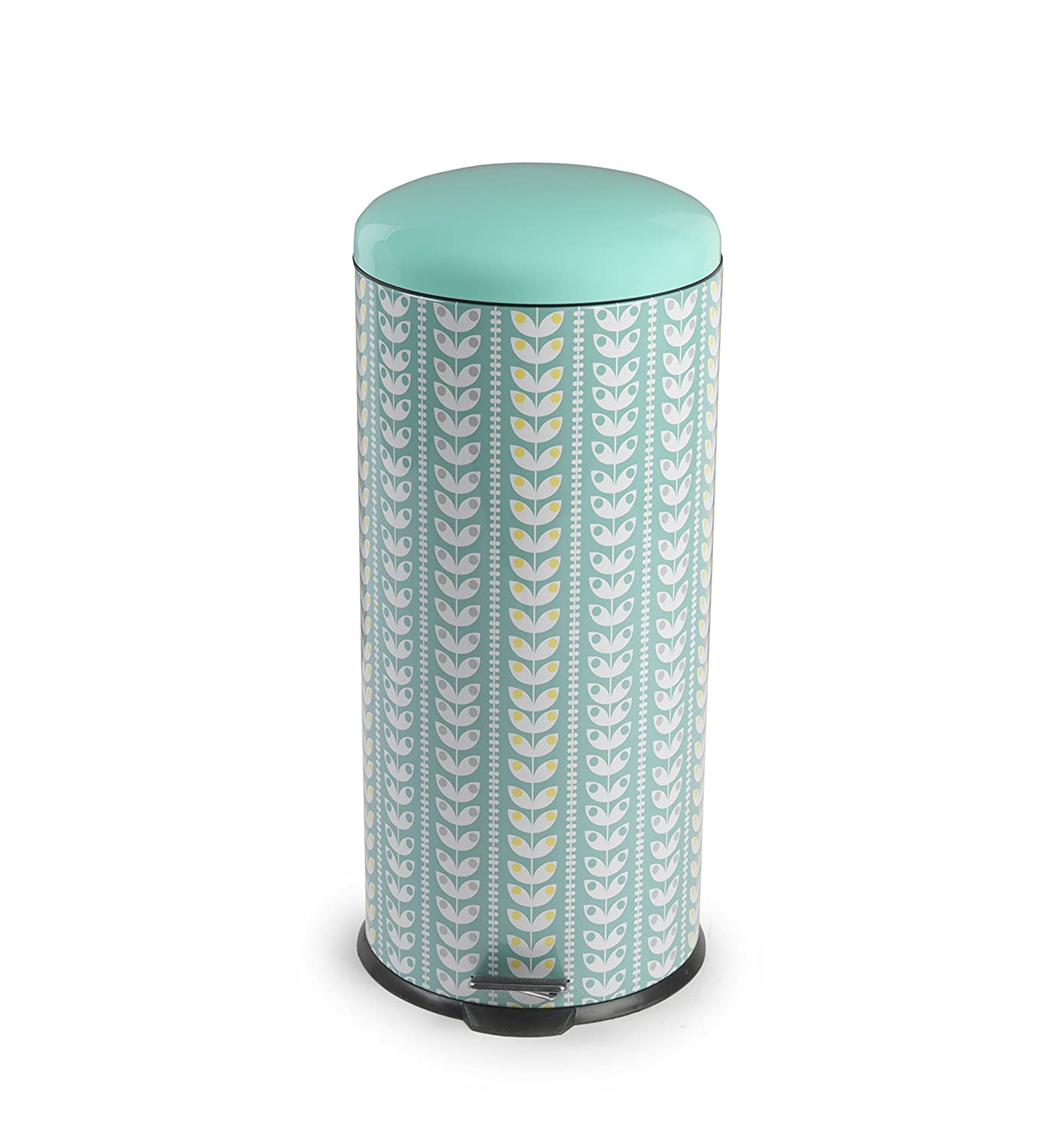 Salter BW04606 Retro Leaf Kitchen Pedal Bin, 30 Litre, Turquoise ...