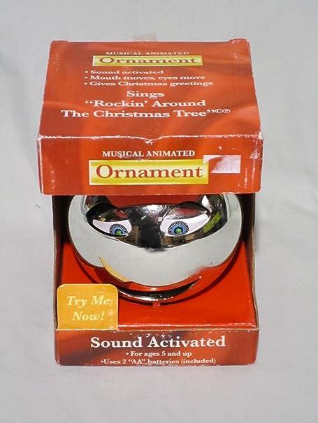 Who Sang Rockin Around The Christmas Tree.Musical Animated Ornament Sings Rockin Around The