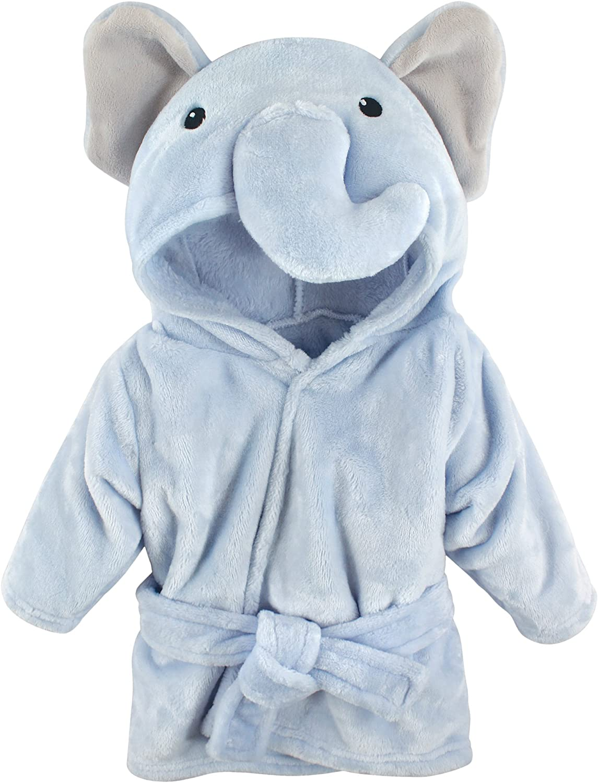 Hudson baby baby-boys Plush Animal Face Bathrobe Robe Health ...