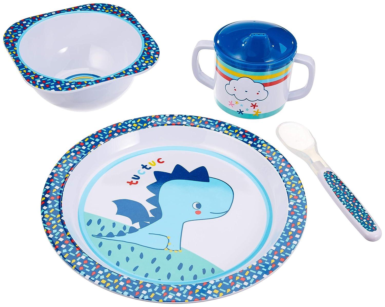 The Dida World Ecofriendly 5 piezas Conjunto vajilla infantil color natural