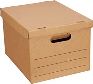 Amazon Basics Moving Boxes with Lid and Handles - 15