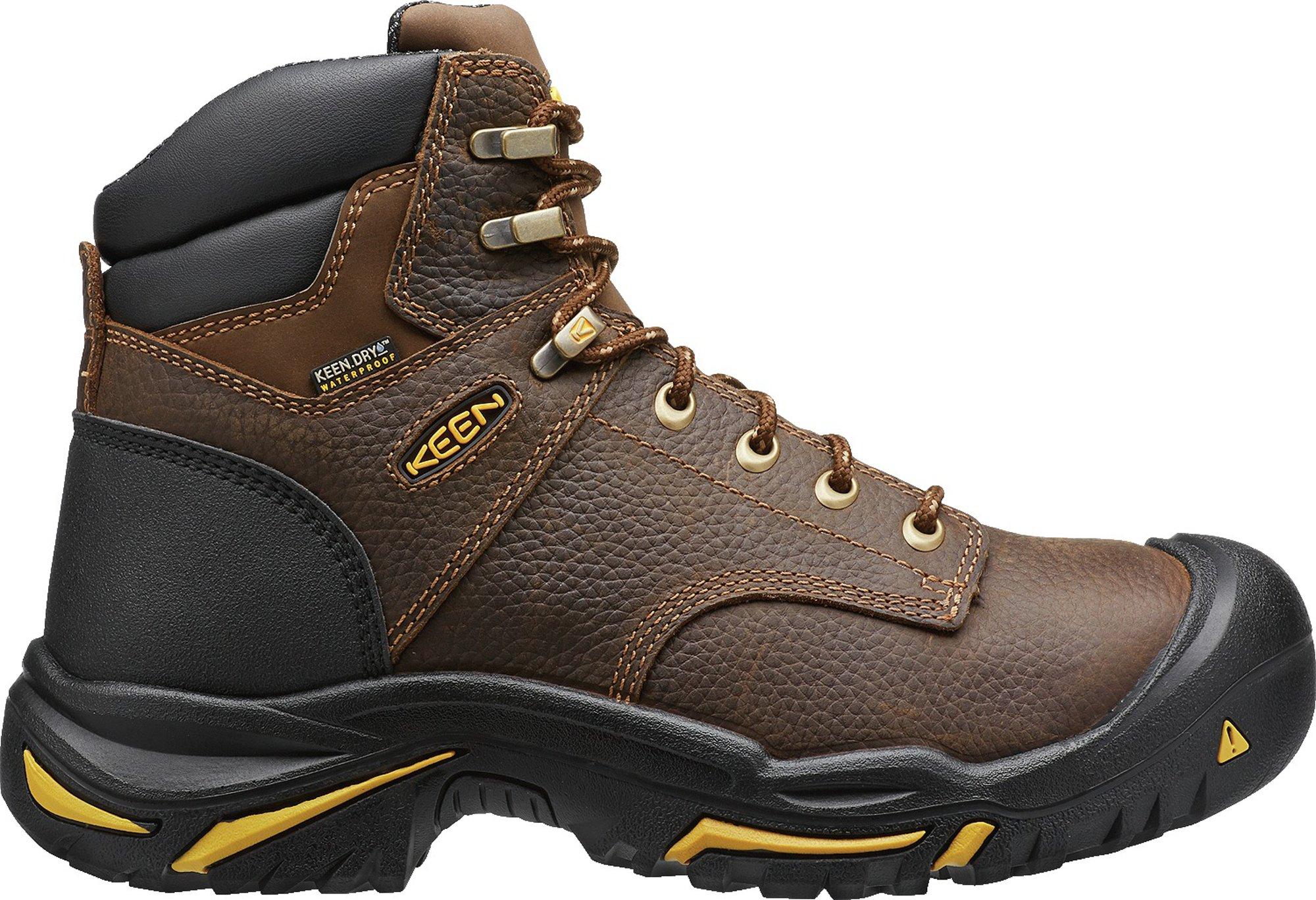 KEEN Utility MT Vernon 6'' (Soft Toe), Men's Work Boot Soft Toe, Cascade Brown, 15 D