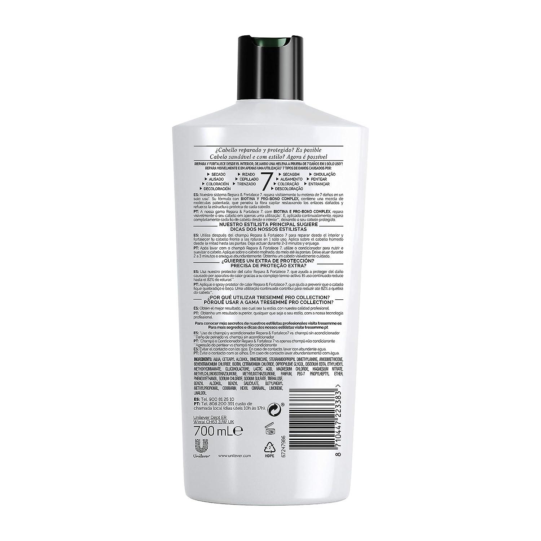 TRESemmé Acondicionador Repara y Fortalece - Paquete de 3 x 700 ml - Total: 2100 ml: Amazon.es: Belleza