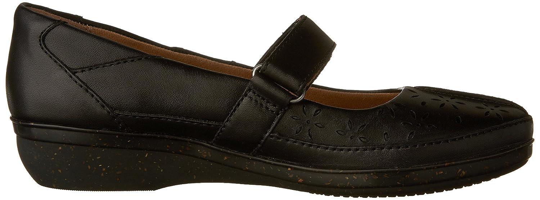 CLARKS Women's Everlay Bai Mary Jane Flat B01FSJYP4Y 10 N US|Black Leather