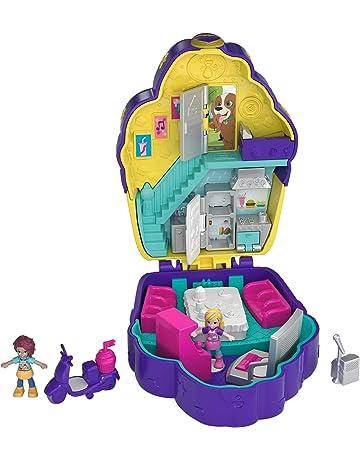 Polly Pocket Coffret Univers Le Café Cupcake avec 2 Mini-Figurines et  Accessoires, Autocollants bf32e352e51b