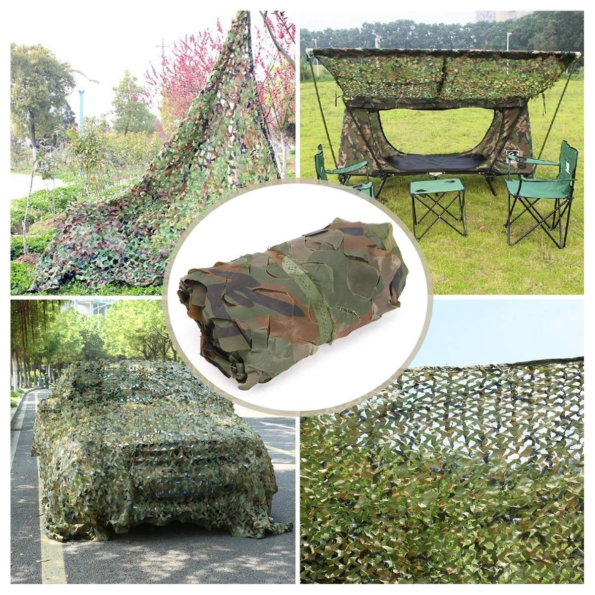 510M(16.432.8ft) Filet de Prougeection Solaire for Jardin 4  5m Camouflage dans la Jungle, Filet de Camouflage Filet D'ombrage Auvents Filet de Camouflage for Tentes Résistantes ,Plusieurs Tailles