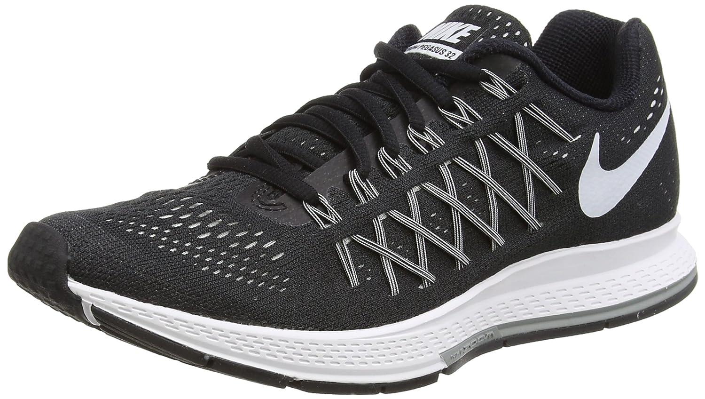 NIKE Women's Air Zoom Pegasus 32 Running Shoe B00QFOZNT8 10.5 B(M) US|Black/White/Pure Platinum