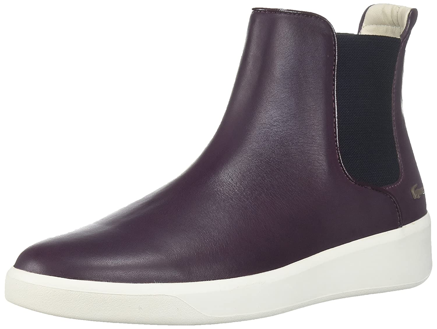 Lacoste Women's Rochelle Chelsea 317 1 Fashion Ankle Boot B01MY4K231 6 B(M) US|Burgundy