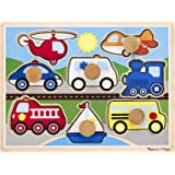 Melissa & Doug Vehicles Jumbo Knob Wooden Puzzle (8 pcs)