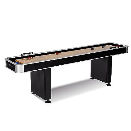 Amazoncom MD Sports ARCM Arcade Shuffleboard Table Black - Portable shuffleboard table