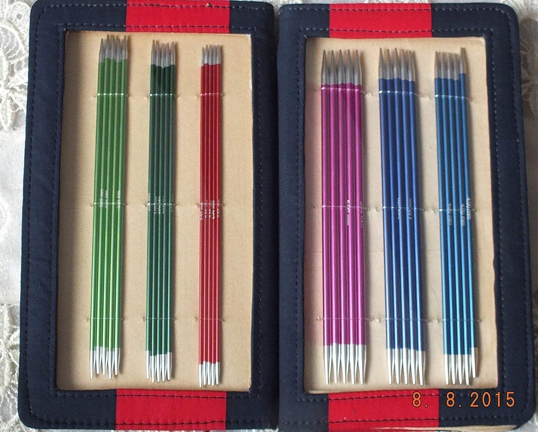 Knitpro 41614 Gioco Ago Carbonio Set di Aghi Lavoro a Maglia Appuntiti 15cm