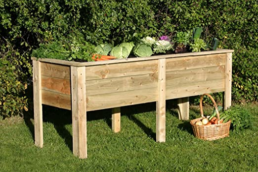 1, 8 m tratamiento de madera comedero para verduras Garden en ...