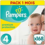 Pampers Premium Protection, 168 Pannolini, Taglia 4 (8-16 kg)