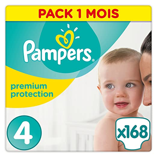 504 opinioni per Pampers Premium Protection, 168 Pannolini, Taglia 4 (8-16 kg)