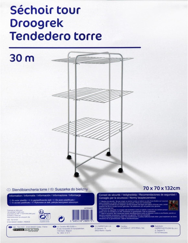 Carrefour 3609230200975 Tendedero de suelo Blanco secadora ...