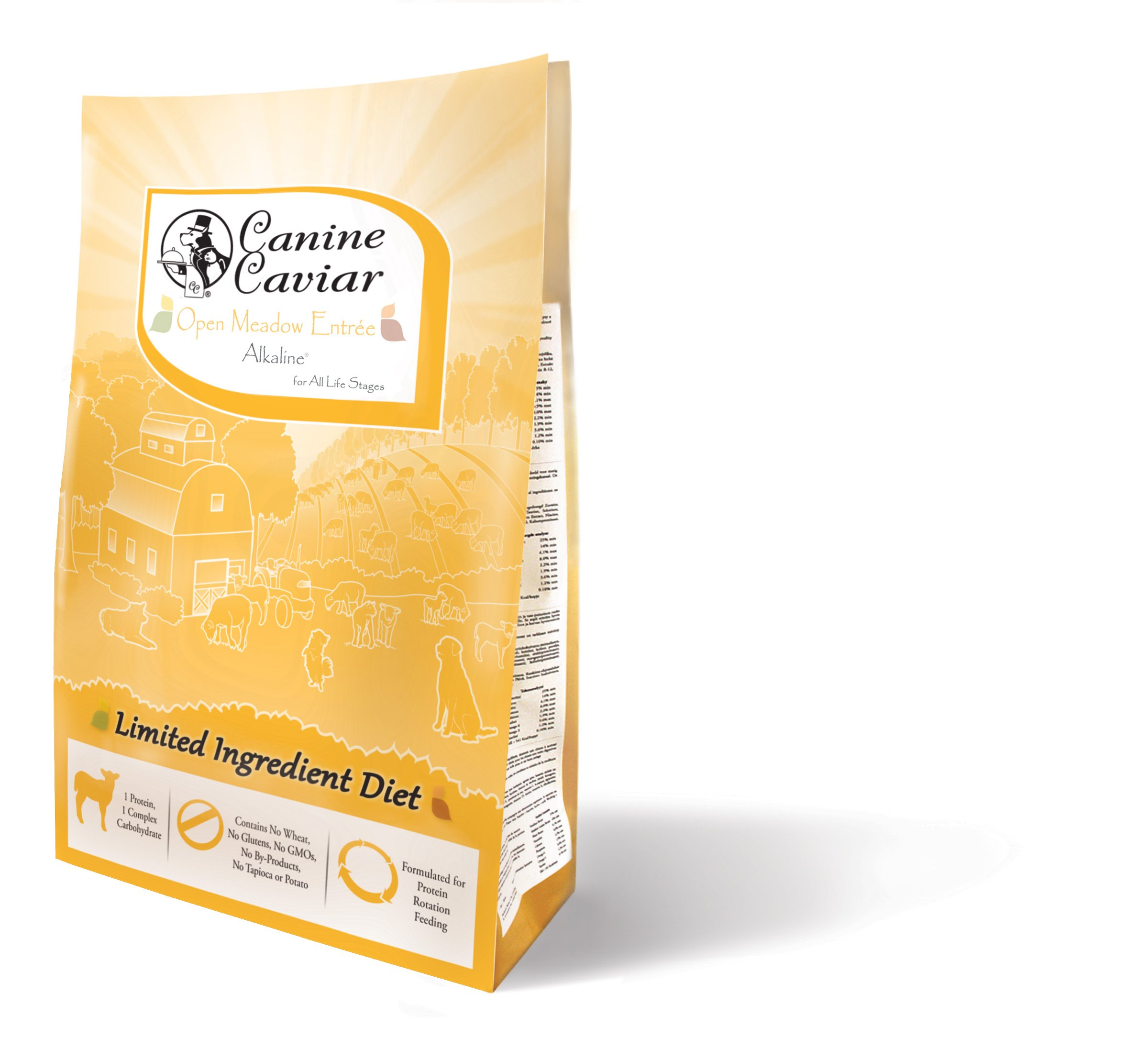 Canine Caviar Dry All Holistic Grain-Free - Dry Dog Food, Alkaline, Lamb & Pearl Millet, 22 lbs. by Canine Caviar