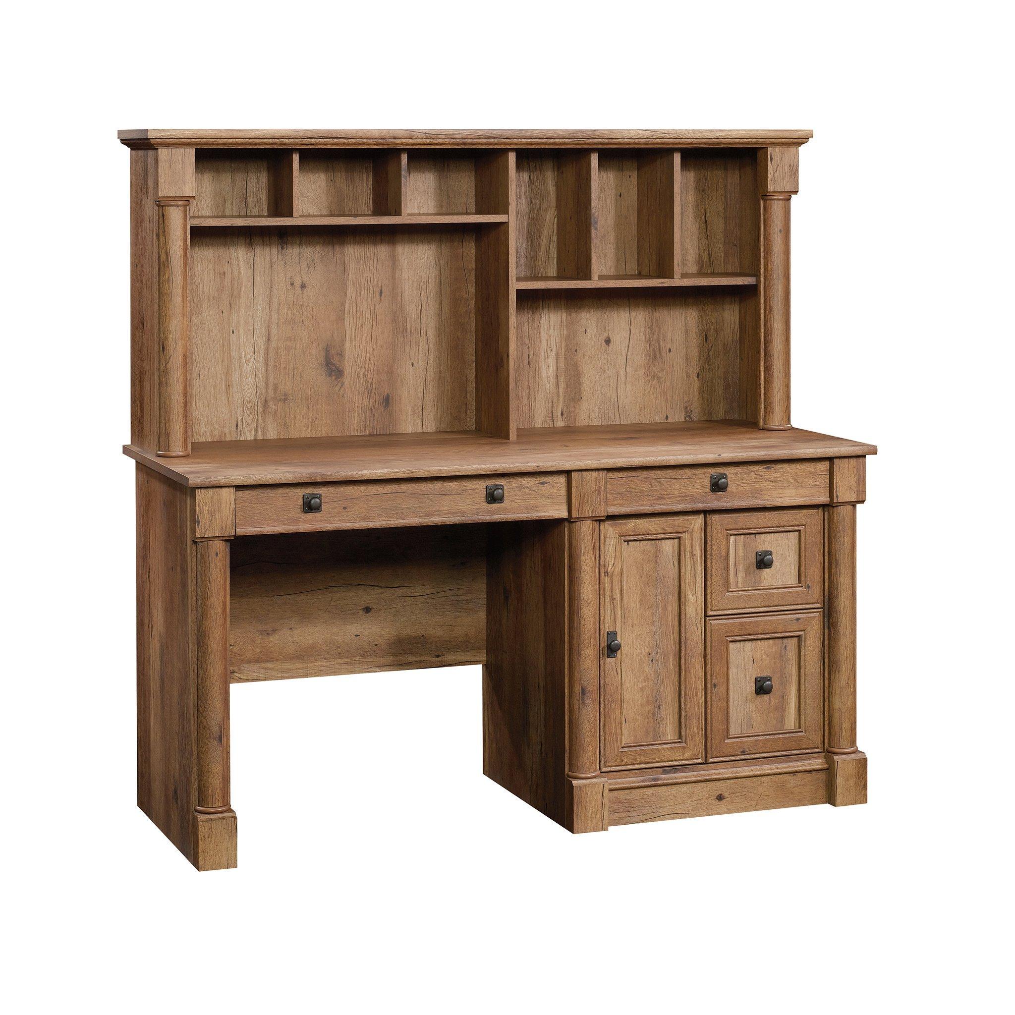 Sauder 420713 Palladia Computer Desk with Hutch, Vintage Oak Finish by Sauder
