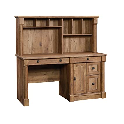 Sauder 420713 Palladia Computer Desk with Hutch, Vintage Oak Finish - Amazon.com : Sauder 420713 Palladia Computer Desk With Hutch