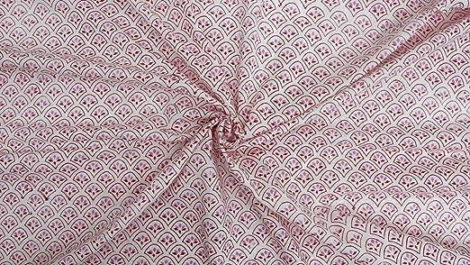 Trade Star - tela india con patrón de bloques, tela de algodón ...