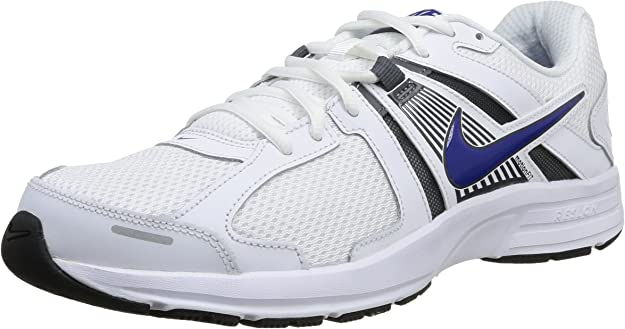 Nike Dart 10 Zapatillas de running, Hombre, Blanco (White / Hyper Blue-Dark Grey), 44: Amazon.es: Zapatos y complementos