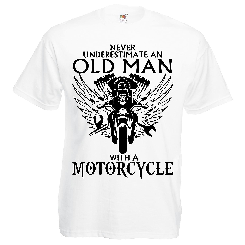 Motorcycle Biker Skull Motor City Mens Black Cotton T-shirt Top Tee Good Quality