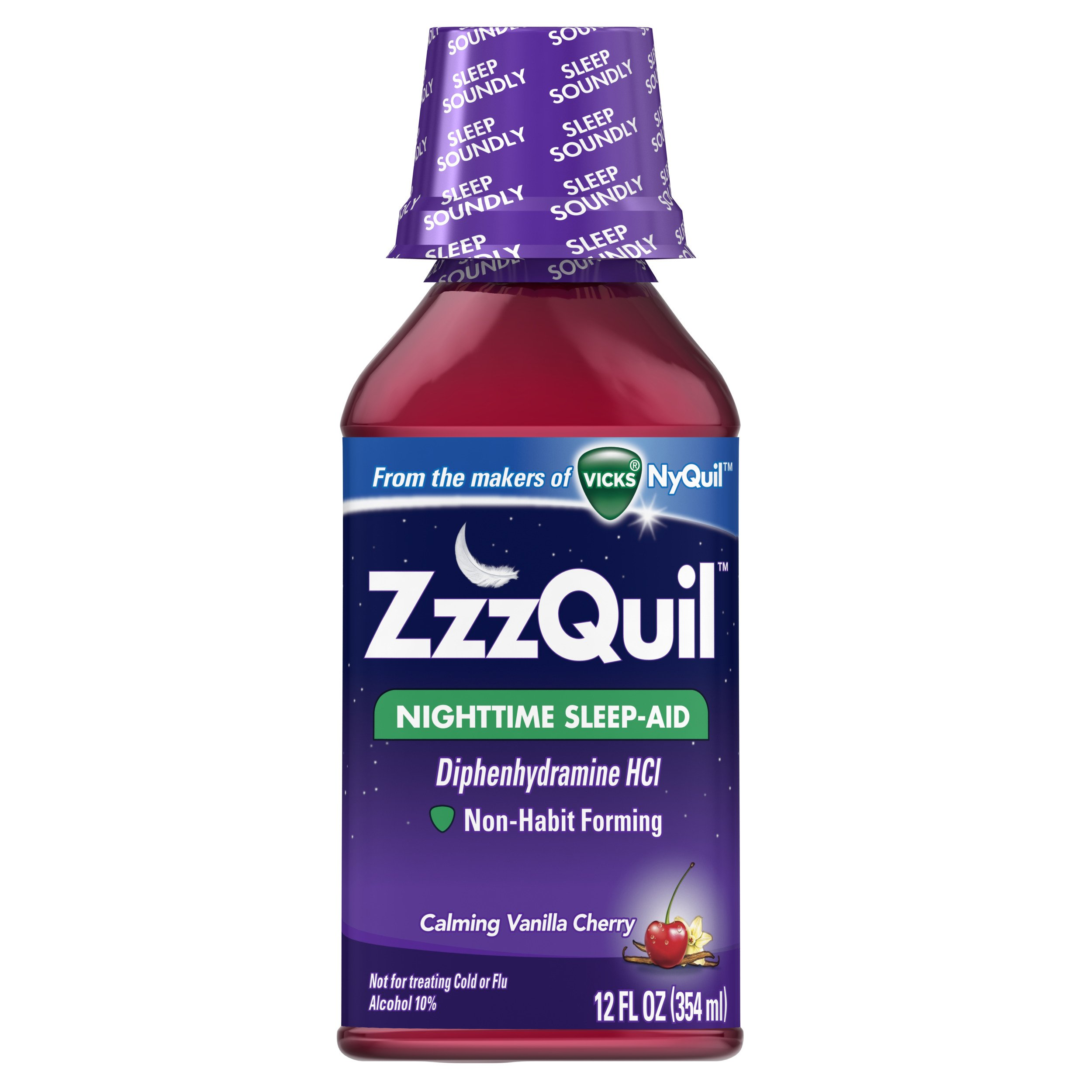 Zzzquil Calming Sleeping, Vanilla Cherry, 12 Fluid Ounce