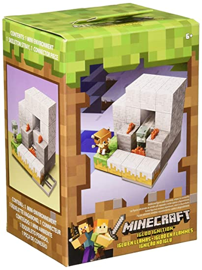Mattel Minecraft Mini Figure Environment Choppin Wood Playset