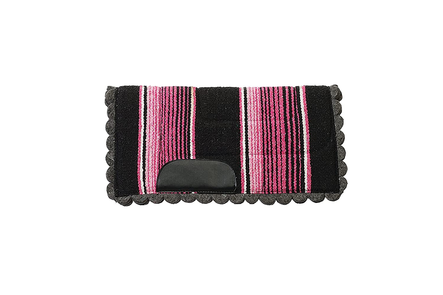 Pink Weaver Leather Weaver Leather Pony Felt Lined Navajo Saddle Pad, bluee 35-9806-BL-P
