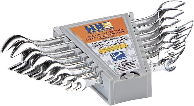 HR 170080 fijas, 0 V, 8 Llaves, Set de 8 Piezas: Amazon.es: Bricolaje y herramientas